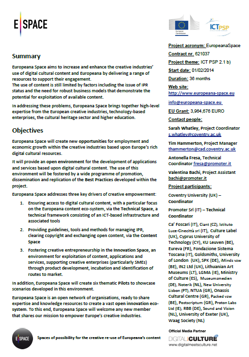05. Project Factsheet (2014)