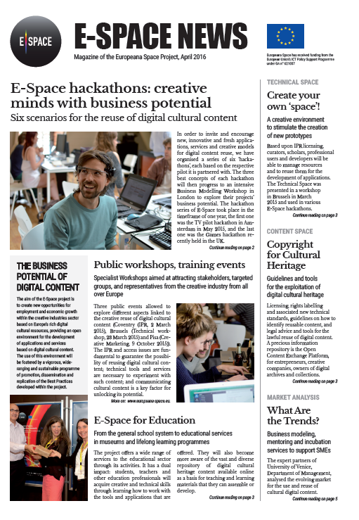 01. E-Space News April 2016