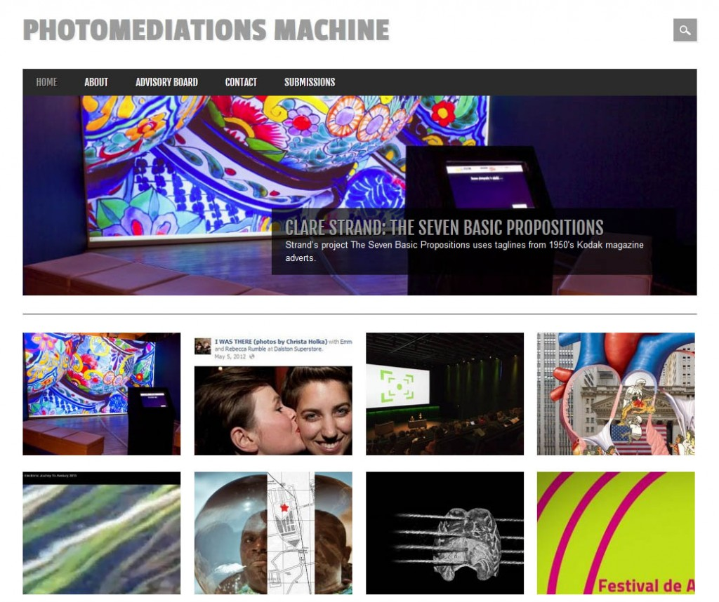 Photomediations Machine, http://photomediationsmachine.net/, online open space curated by Prof. Joanna Zylinska (the pilot leader) - which will act as a sister project to this pilot