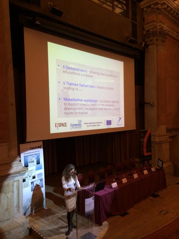 Sarah Whatley opening the Venice conference