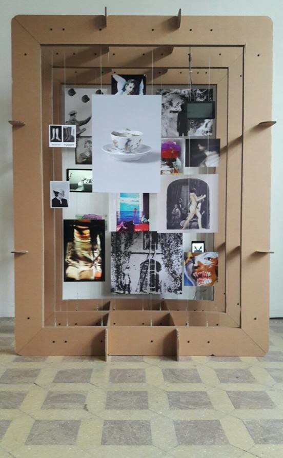 the Photomediations exhibition set up in Berlin Conference